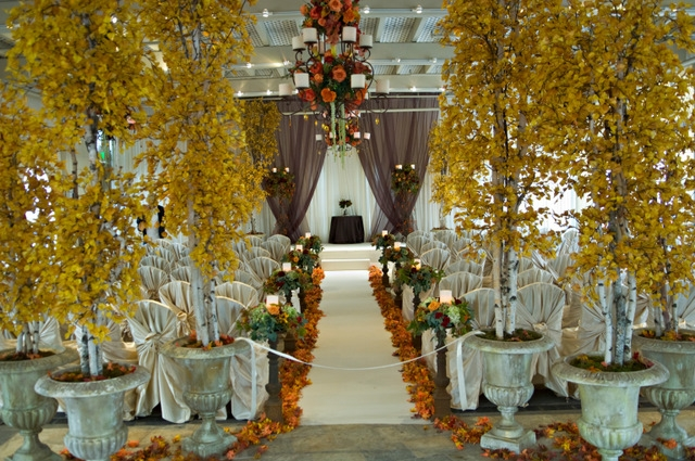 Fall Inspired Ceremony Decor