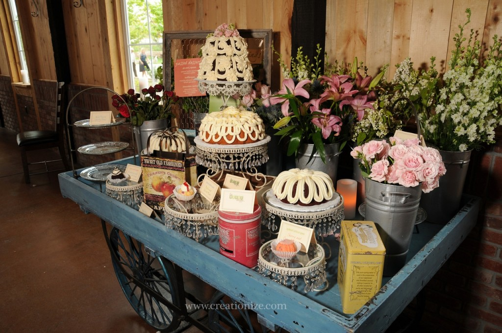 Flower Dessert Cart