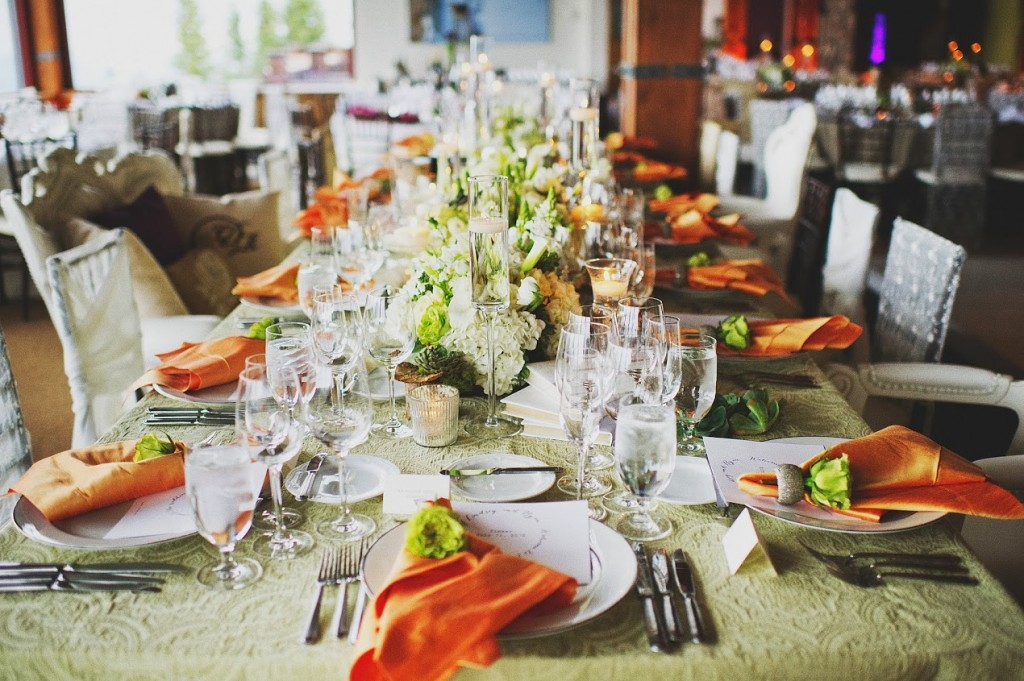 Creamy Tablescape with Pops of Color