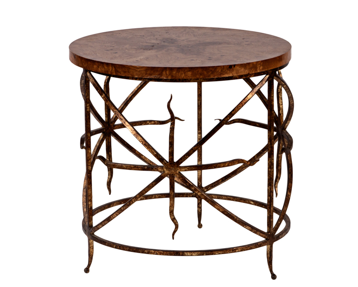 Gold_Copper_Metal_End_Table_wGoldBrown_Top