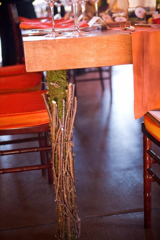 Gemmill Wedding at Crooked Willow, mahogany table leg, 09.10.10 (31)