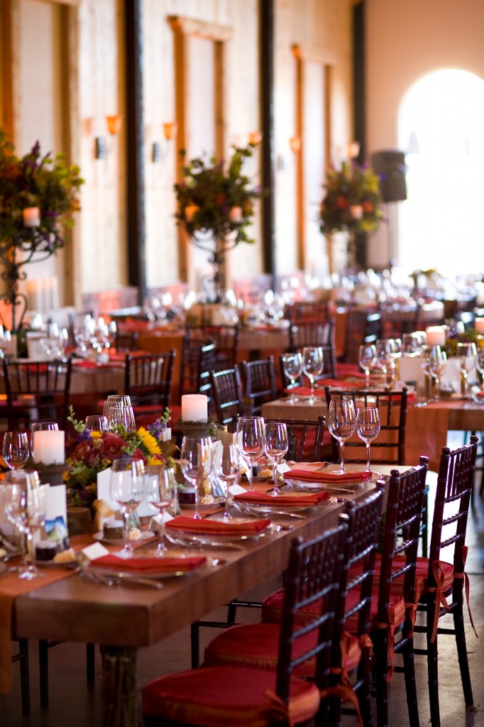 Gemmill Wedding at Crooked Willow, mahogany wood tables, 09.10.10 (15)