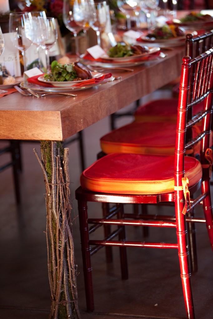 Gemmill Wedding at Crooked Willow, rectangle mahogany table leg, 09.10.10 (58)