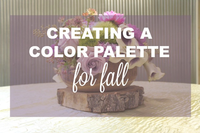 creating a color palette for fall