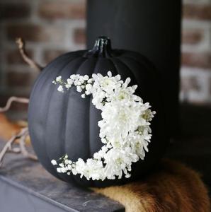 black-painted-pumpkin